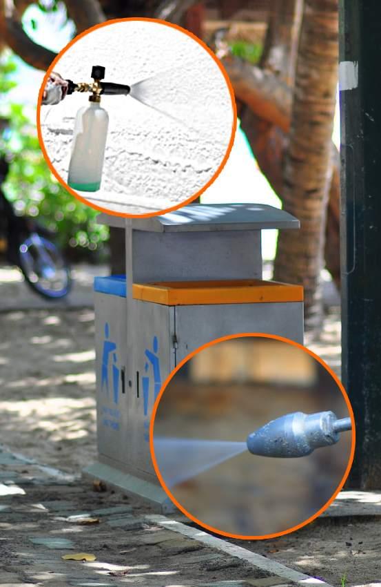 usuwanie wirusów wrzącą wodą idetergentami