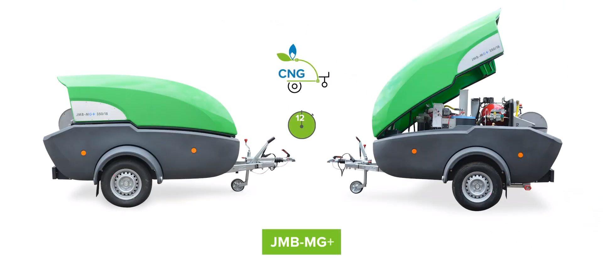 Myjka DiBO JMB-MG+ zasilana sprężonym gazem ziemnym CNG